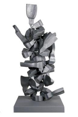 """""""El ascenso"""" (2010) Hierro macizo. Peana de hierro. 145 x 50 x 50 cm."""